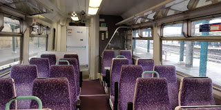 Interior of Northern's ex-First Scotrail 156.