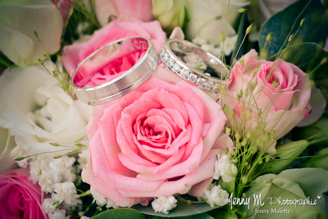 photo alliances mariés or blanc et brillants