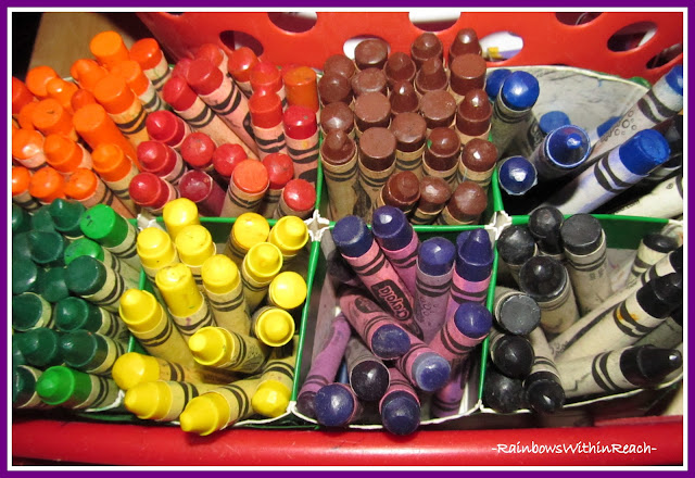 photo of: Organizing Crayons by Color in the Classroom