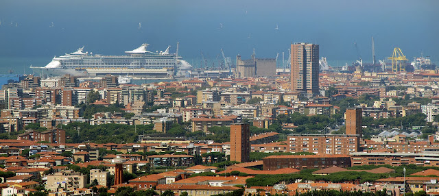 Panoramic view of Livorno from Montenero