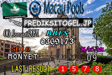 Prediksi Togel Wangsit Macau Pools Rabu 06 Januari 2021