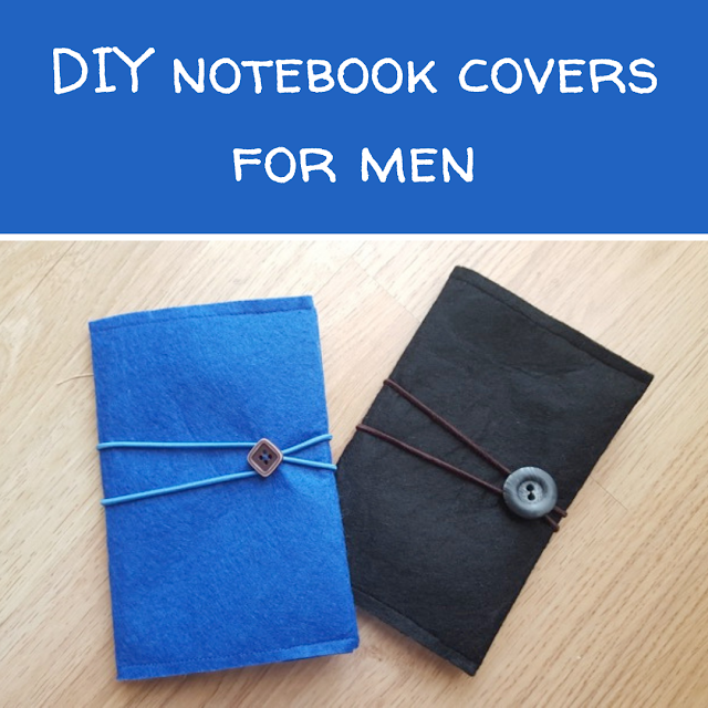 DIY notebook covers for men