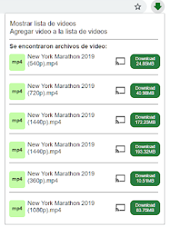 lista de videos Video Downloader professional