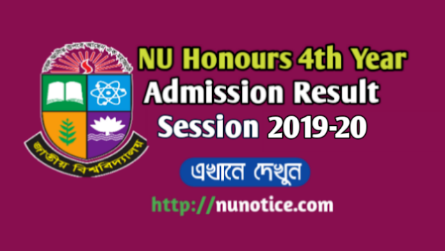 Honours Admission result 2019