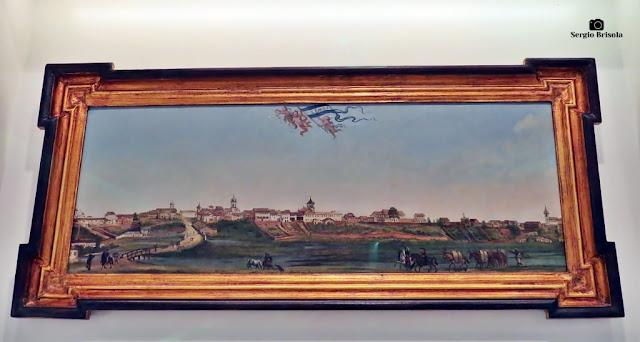 Close-up da Obra Panorama da Cidade de São Paulo (1821) - Centro Cultural Itaú - Bela Vista