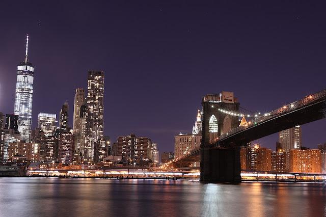 جسر بروكلين وأنوار نيويورك