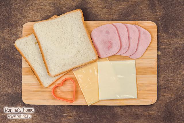 Сэндвичи с сыром и ветчиной: рецепт