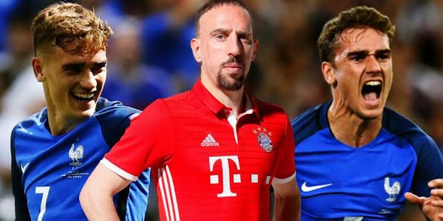 Ribéry: Griezmann não é de classe mundial