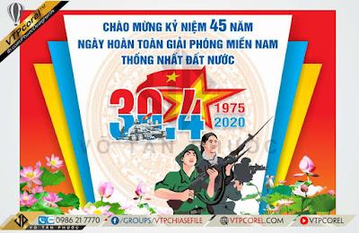 Phông nền chào mừng kỷ niệm 45 năm giải phóng miền nam 30/4
