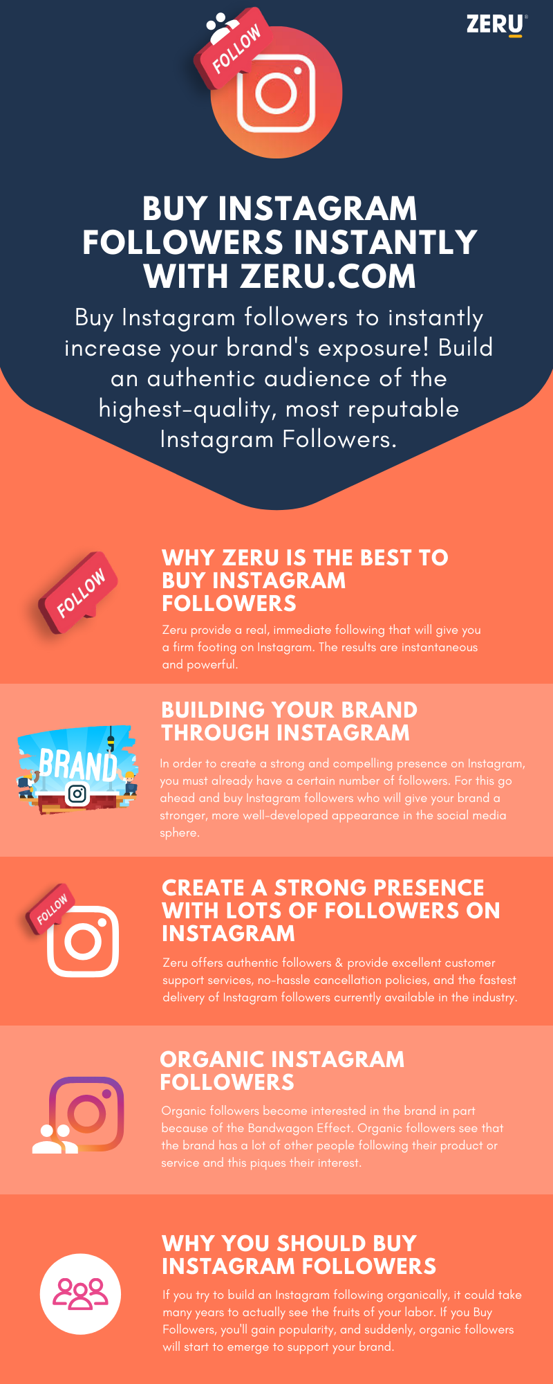 Buy Instagram followers instantly with Zeru.com #infographic # Social Media