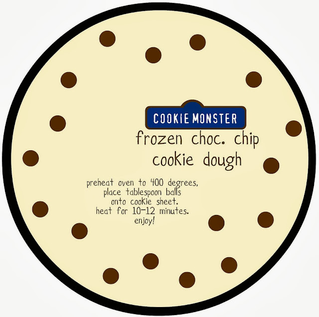 free mason jar cookie dough printable