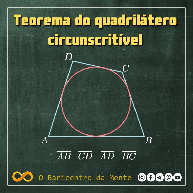 Teorema do quadrilátero circunscritível