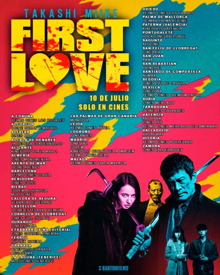 First Love (Hatsukoi) film - Takashi Miike - Barton Films - cines