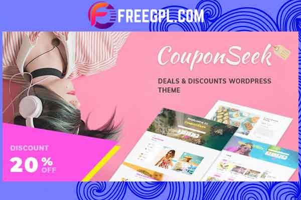 CouponSeek – Deals & Discounts WordPress Theme Free Download