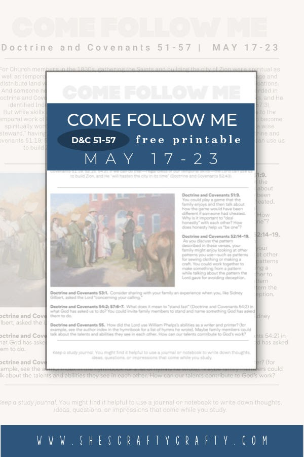 Come Follow Me Weekly Printable May 17-23 Pinterest Pin.