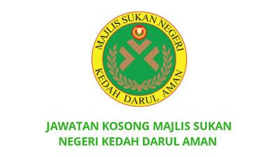 Jawatan Kosong Majlis Sukan Negeri Kedah Darul Aman 2019