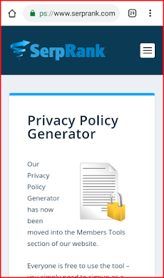 Generate Privacy policy page