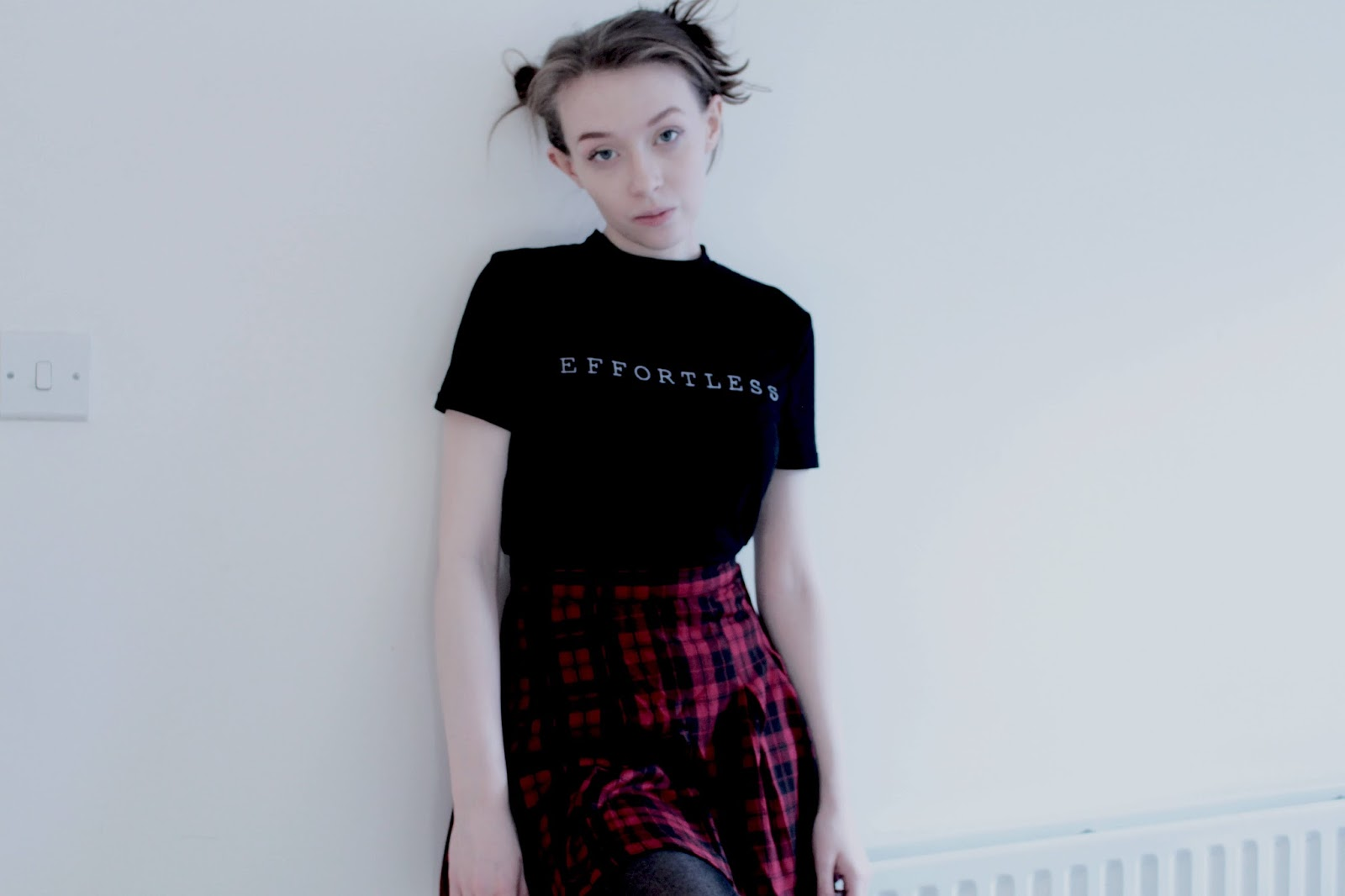 red tartan tennis skirt outfit inspiration uk style