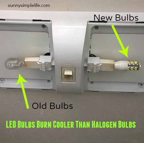 halogen vs. LED lighting in the RV
