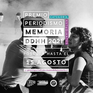 Colegio de Periodistas y Museo de la Memoria convocan a estudiantes de periodismo a participar de la VI versión del Premio Periodismo Memoria y DDHH