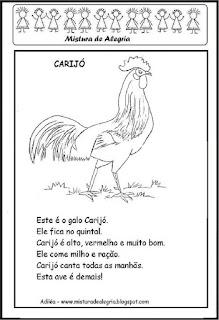 Atividades projeto a galinha ruiva