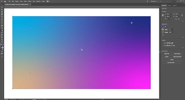 Freeform Gradient in Adobe Illustrator 2019
