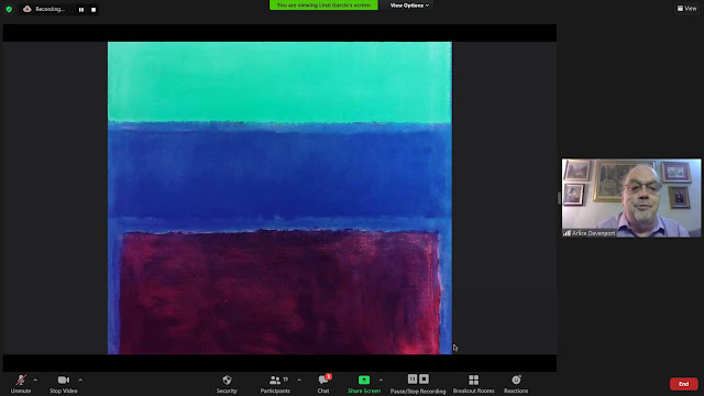 Rothko painting with Arlice Davenport reading poetry