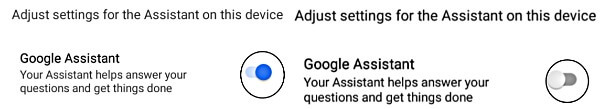 deactivate Google Assistant