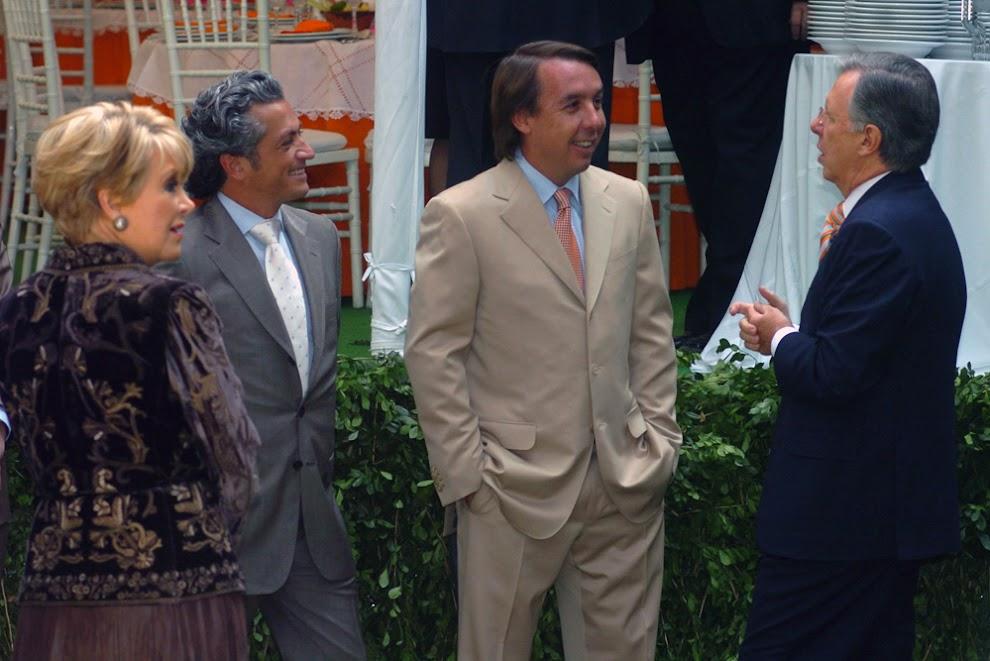 Lolita Ayala, Arturo Velasco, Emilio Azcárraga Jean y Joaquín López-Dóriga