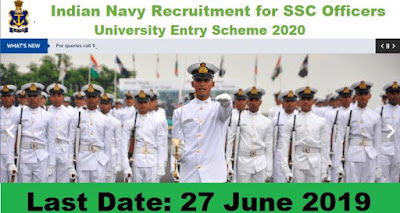 Indian Navy University Entry Scheme 2020