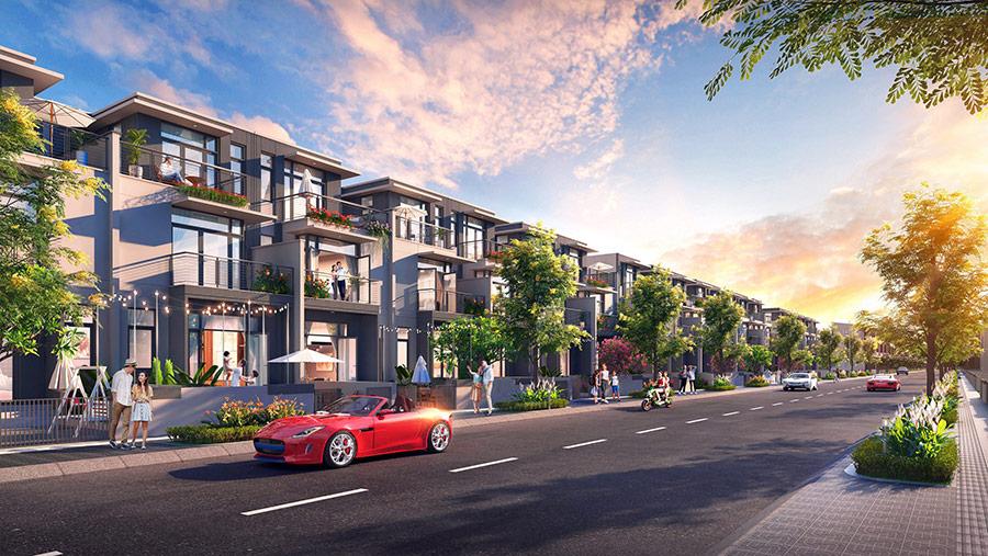 Nhà phố tự xây tại phân khu Topaz Town có diện tích đất trung bình từ 100 - 230m2.