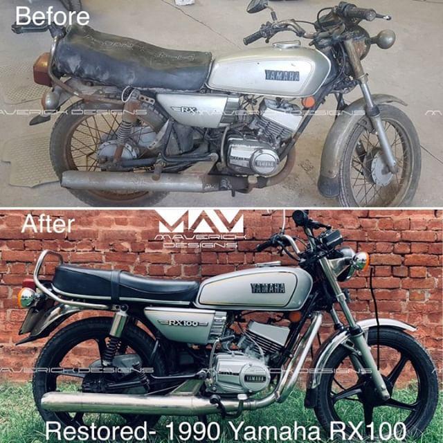 yamaha rx 100 restored