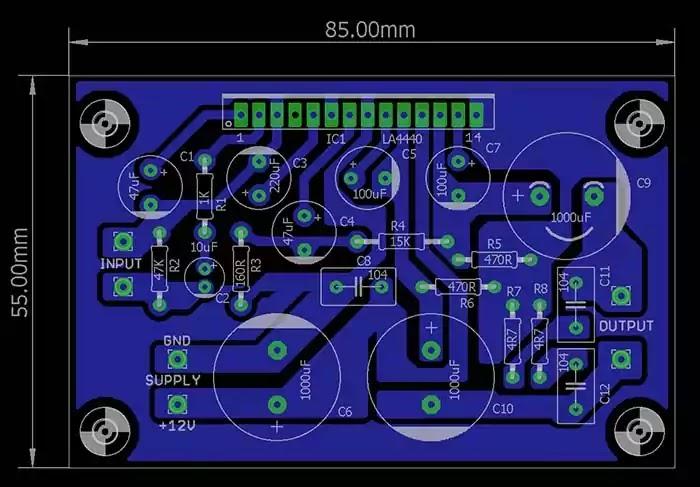la4440 amplifier PCB