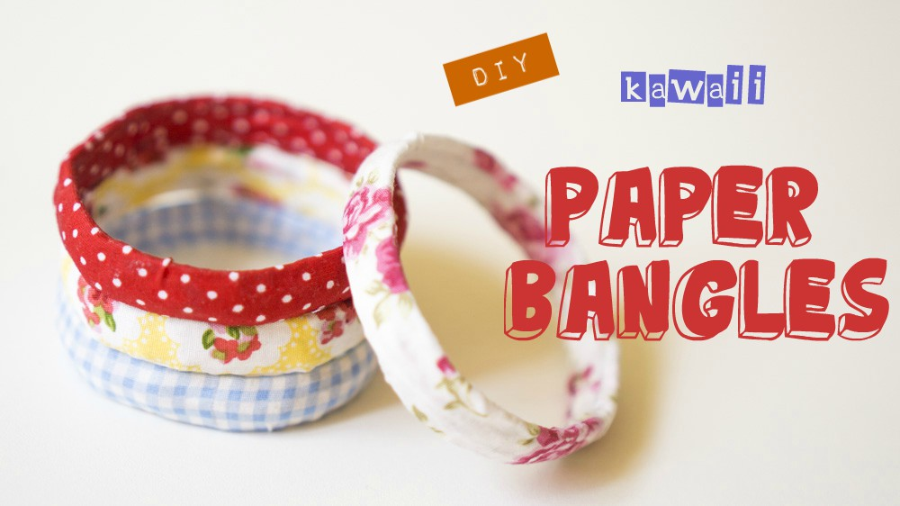 Diy paper bangles best out of waste ideas madi unnie for Waste out of best from bangles