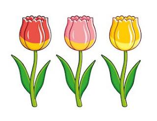 bunga kartun tulip