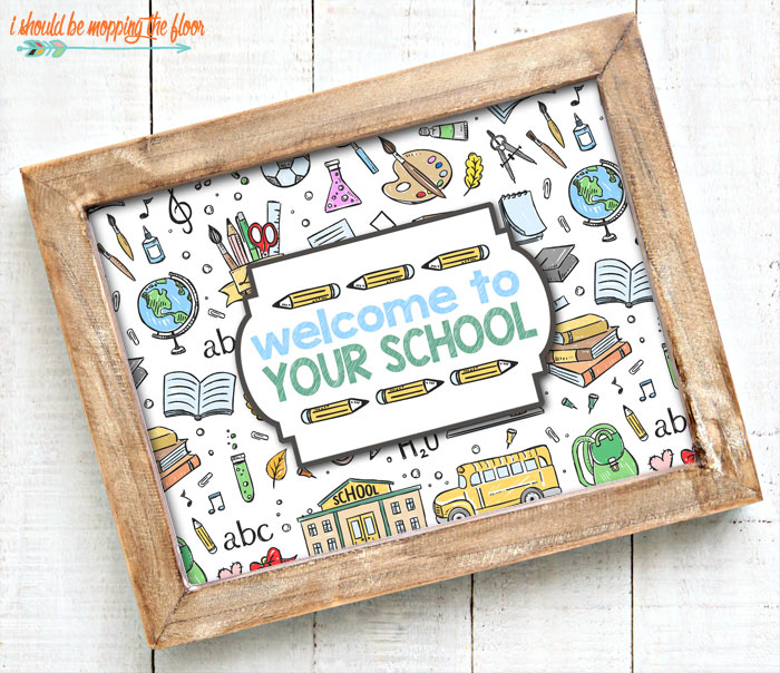 Welcome Back to School Printable