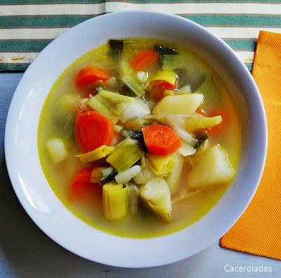 Porrusalsa o sopa de puerros