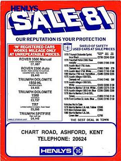 Henlys Ashford advert