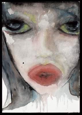 Lécheuse, pintura de Marilyn Manson.