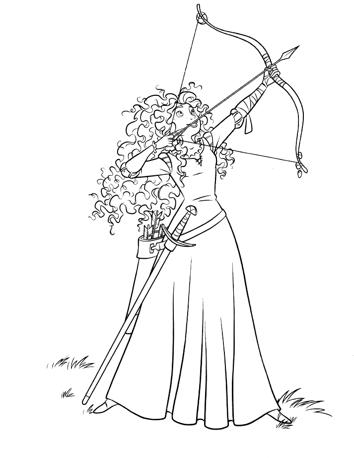 brave printable coloring pages - disney coloring pages