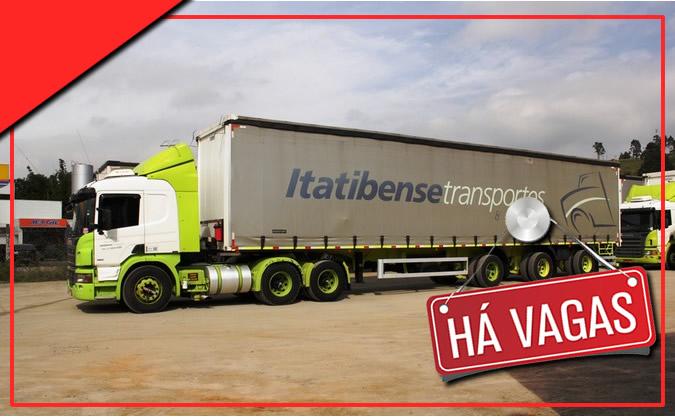 Transportadora Itatibense está contratando motorista carreteiro