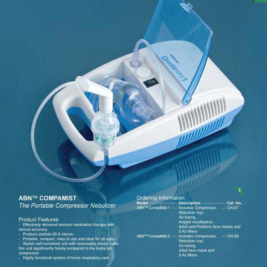 Nebulizer ABN Compamist 1 Alat Uap Untuk Sesak Nafas