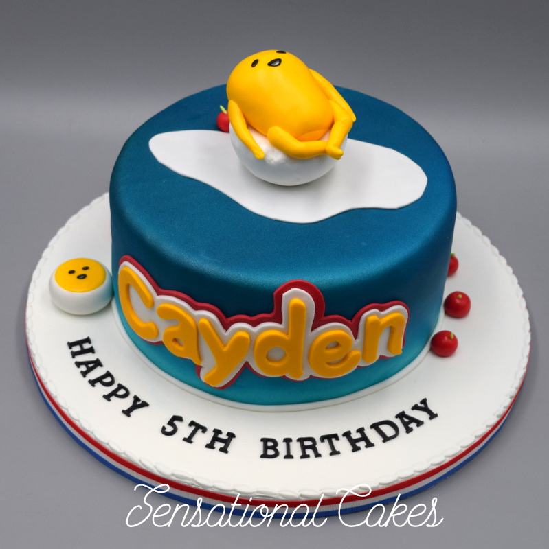 The Sensational Cakes Gudetama The Lazy Egg 3d Cake Singapore