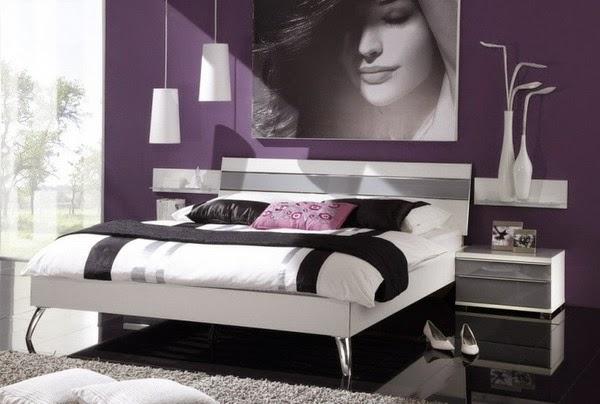 Dormitorios en morado y gris  Dormitorios colores y estilos