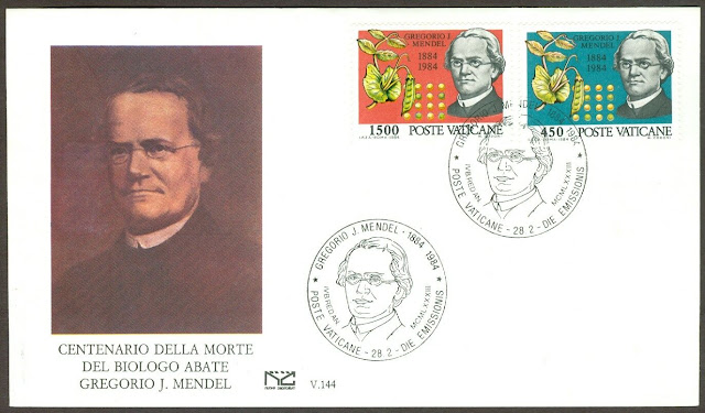 Vatican Gregor Mendel, Basic Laws of Heredity First Day Cover