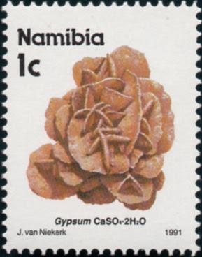 Sello de Nanibia con un ejemplar de Rosa del Desierto. Perteneciente a la colección filatélica de José Juan Iglesias Pintado