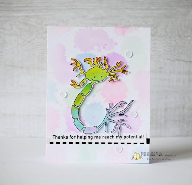 Kinda Cute by Patricia digi -  Neuron Thank you Card