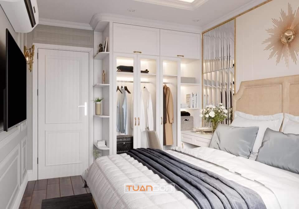 Thiết Kế Phòng Ngủ Phong cách tân cổ điển sang trọng