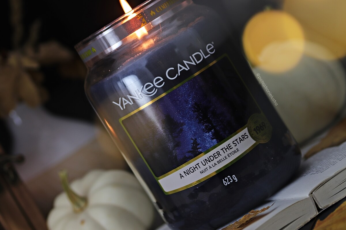 etykieta yankee candle a night under the stars