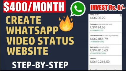 🔥🔥Earn $450 Monthly  Create WhatsApp Status Video Website in Blogger - Best Passive Income ideas 2021
